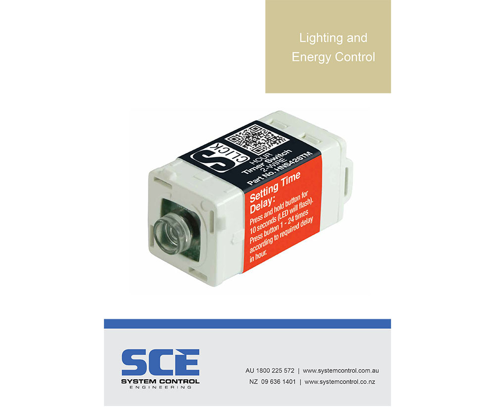 SCE LIGHTING AND ENERGY CONTROL V0117