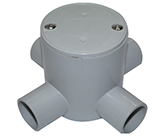 JUNCTION BOX DEEP 25MM 4 WAY ENTRY