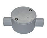 JUNCTION BOX SHALLOW 25MM 2 WAY ENTRY