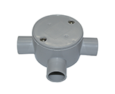 JUNCTION BOX SHALLOW 20MM 3 WAY ENTRY