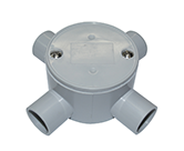 JUNCTION BOX SHALLOW 20MM 4 WAY ENTRY